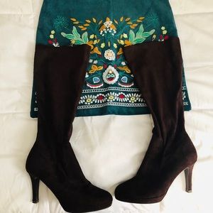 Knee high brown boots